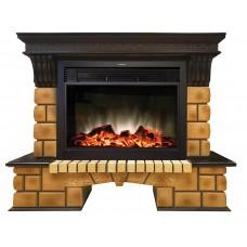 Камин Real Flame Stone Brick 26 AO с Moonblaze Lux BL S
