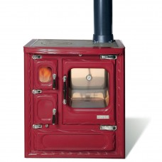 Печь-плита Deva 75 II, чугун, хром, бордовая (Hergom)