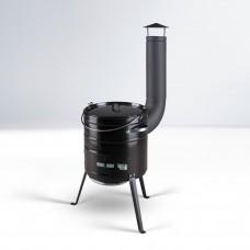 Котел CAULDRON SET 15 L, эмалированный, чёрный (Thorma)