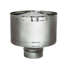 Дефлектор D160 без изоляции, матовый (Вулкан)